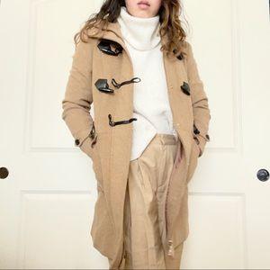 Super Warm Camel Wool Blend Toggle/Duffel Coat